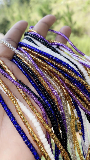 Tie-on Solid Waistbeads Strands