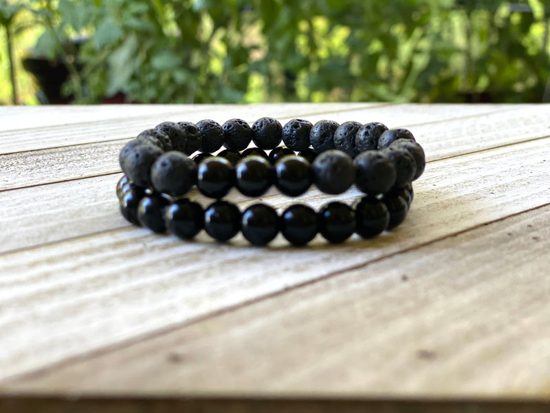 Black Jasper Energy Bracelet Set