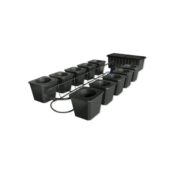 SuperCloset 10-Plant BubbleFlow Buckets Indoor Hydroponic Grow System