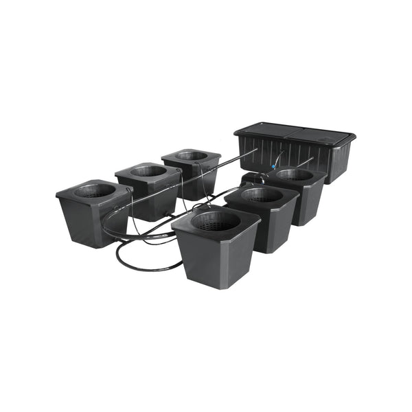 SuperCloset 6-Plant BubbleFlow Buckets Indoor Hydroponic Grow System