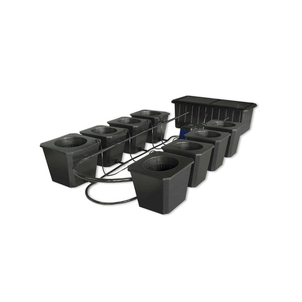 SuperCloset 8-Plant BubbleFlow Buckets Indoor Hydroponic Grow System