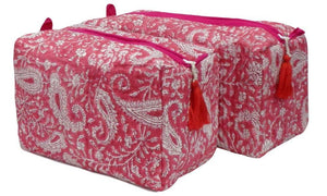 toiletry pouch pink