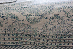 Kantha Quilt /bedspread Blue and green Crown -Queen - Decor Mantra