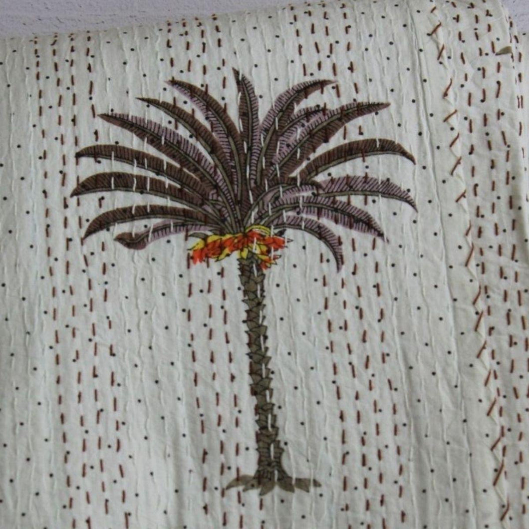 palm tree bedspread