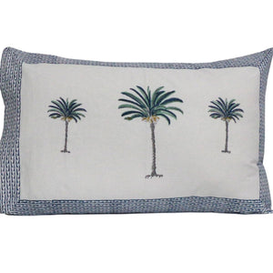 Palm tree pillow cases- set of 2 -Blue