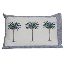 Load image into Gallery viewer, Palm tree pillow cases- set of 2 -Blue