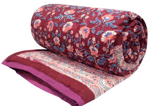 Chater's Maroon reversible quilt - King