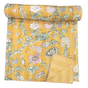 Sunshine Kantha quilt - Queen/King