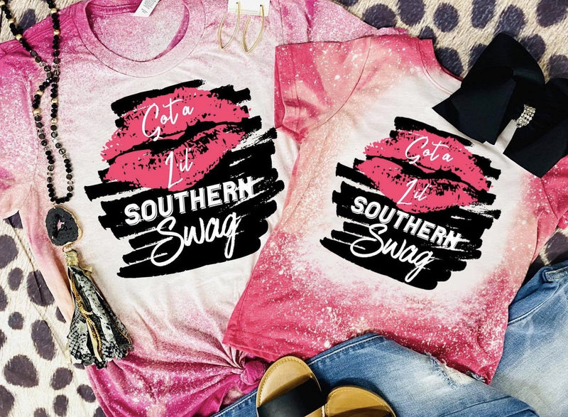 Got A Lil' Southern Swag Bleached Tee