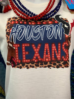 Texans Football Gildan White Short Sleeve Tee