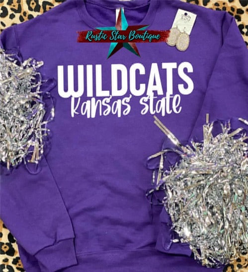 Kansas State Wildcats DTG Purple Sweatshirt
