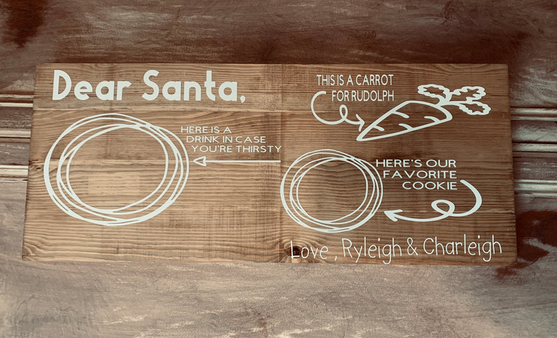 Santa Cookie Board