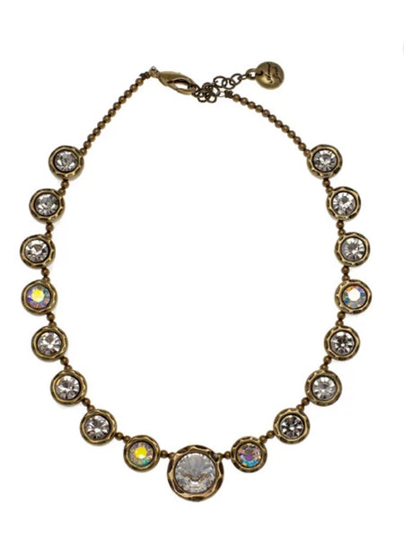 Avant Garde Cherie Necklace in Brass and Crystal