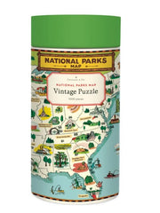 Cavallini & Co National Parks Map Vintage Print Puzzle