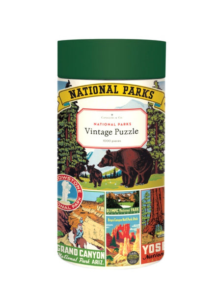 Cavallini & Co National Parks Vintage Print Puzzle