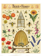Cavallini & Co Bees and Honey Vintage Print Puzzle