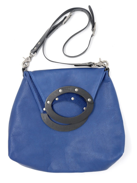 Dean B42 Teardrop Tote in Recycled Blue Leather