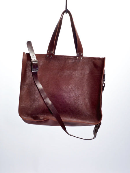 Dean B15 Strap Tote in Brown Leather