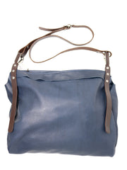 Dean B29 Steel Thimble Bag in Blue Leather