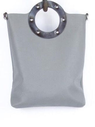 Dean B32 Small Circle Tote in Grey Leather