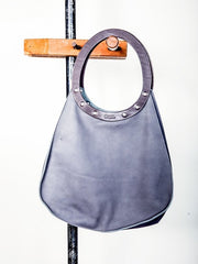 Dean B09 Teardrop Tote in Grey Leather