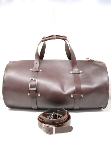 Dean UB05a Duffle Bag in Brown Leather