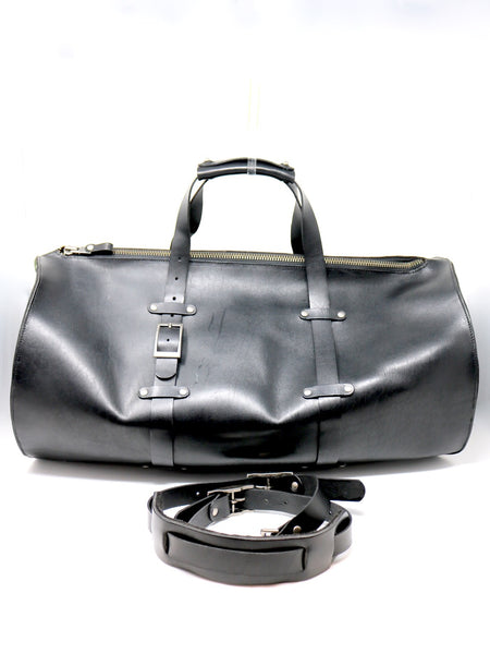 Dean UB05B Large Duffle Bag in Black Leather