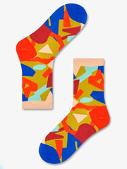 Happy Socks Elsa Ankle Socks in red print
