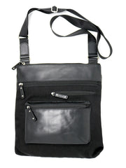 Highway Alice Bag in Black Nylon and Leather