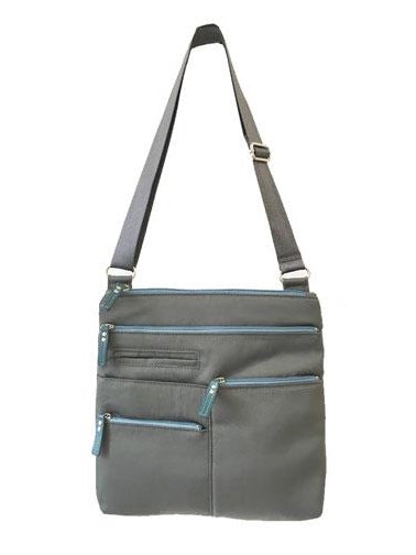 Highway Nico Crossbody Bag in Stone and Light Blue Nylon