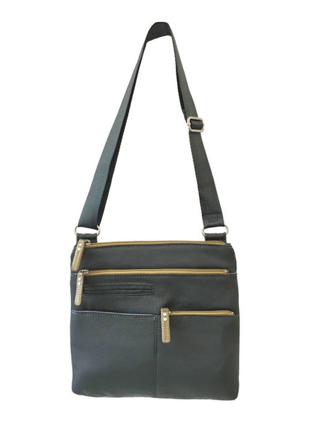 Highway Pete Mini Crossbody Bag in Kombu and Ochre Nylon