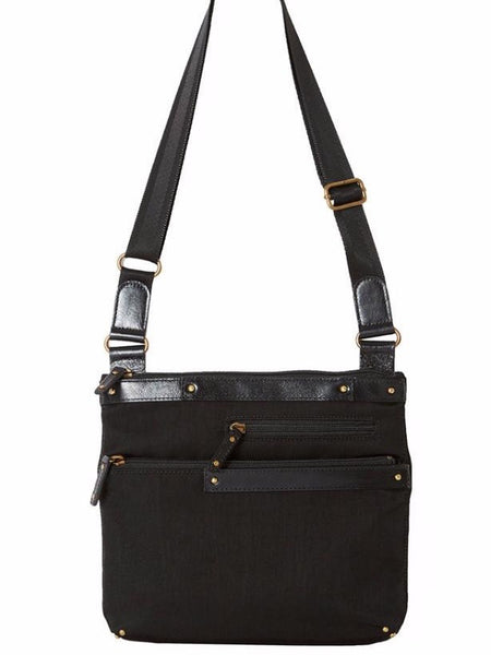 Highway Sophie Mini Leather and Nylon Bag in Black