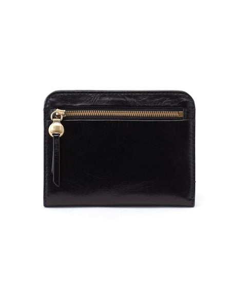 Hobo Catch Wallet in Black Leather