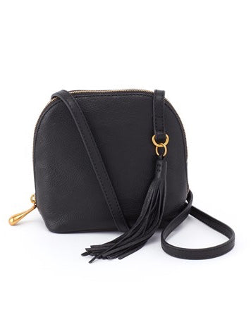 Hobo Nash Crossbody Bag in Black Leather