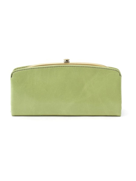 Hobo Poise Wallet in Sea  Mist Leather