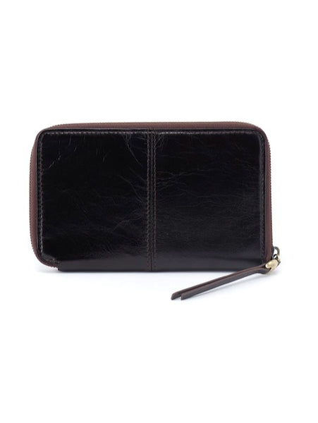 Hobo Rave Wallet in Black Leather