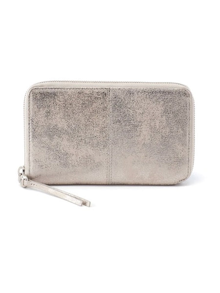 Hobo Rave Wallet in Platinum Leather