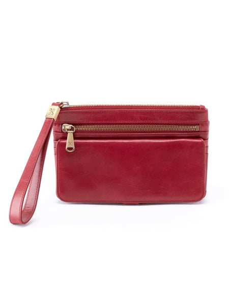 Hobo Roam Clutch Wallet in Logan Berry Leather