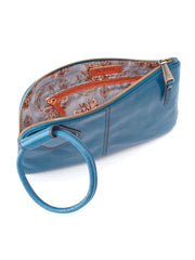 Hobo Sable Wristlet Clutch in Riviera Leather
