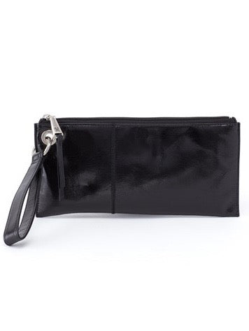 Hobo Vida Wristlet Clutch in Black Leather