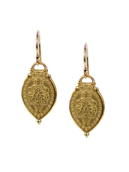 Lulu Designs Prayer Earrings in Gold and Yellow Bronze