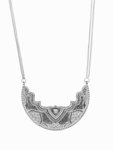Lulu Designs Chandra Large Necklace in Sterling Silver