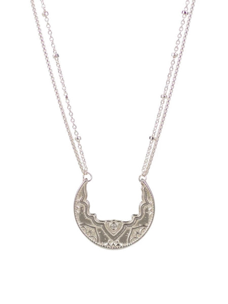 Lulu Designs Chandra Small Necklace in Sterling Silver