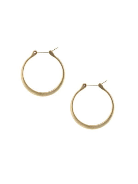 Lulu Designs Coco Small Hoop Earrings in Yellow Bronze