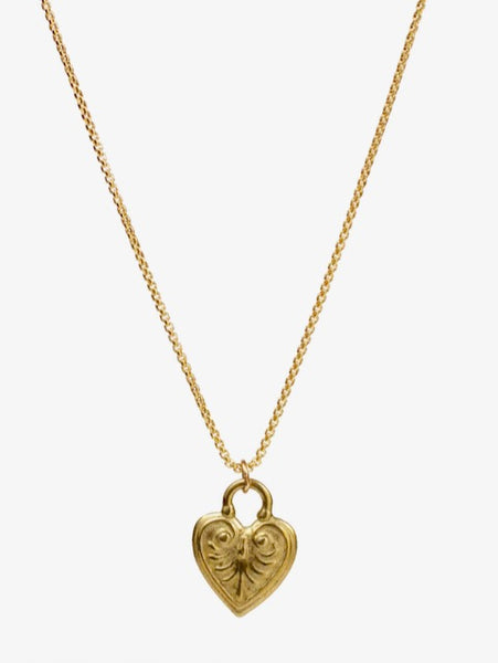 Lulu Designs Coeur Necklace in Yellow Bronze