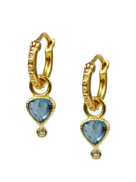 Lulu Designs Colette Hoop Earrings in London Blue Topaz