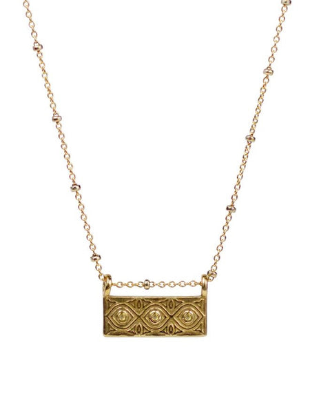 Lulu Designs Dharma Necklace in Yellow Bronze