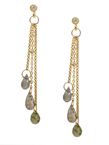 Lulu Designs Isles Earrings in Labradorite