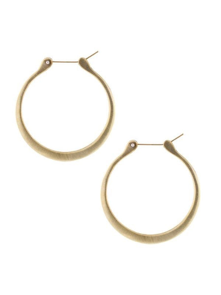 Lulu Designs Coco Large Hoop Earrings in Yellow Bronze