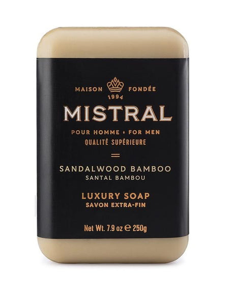 Mistral Men's Sandalwood Bamboo Bar Soap
